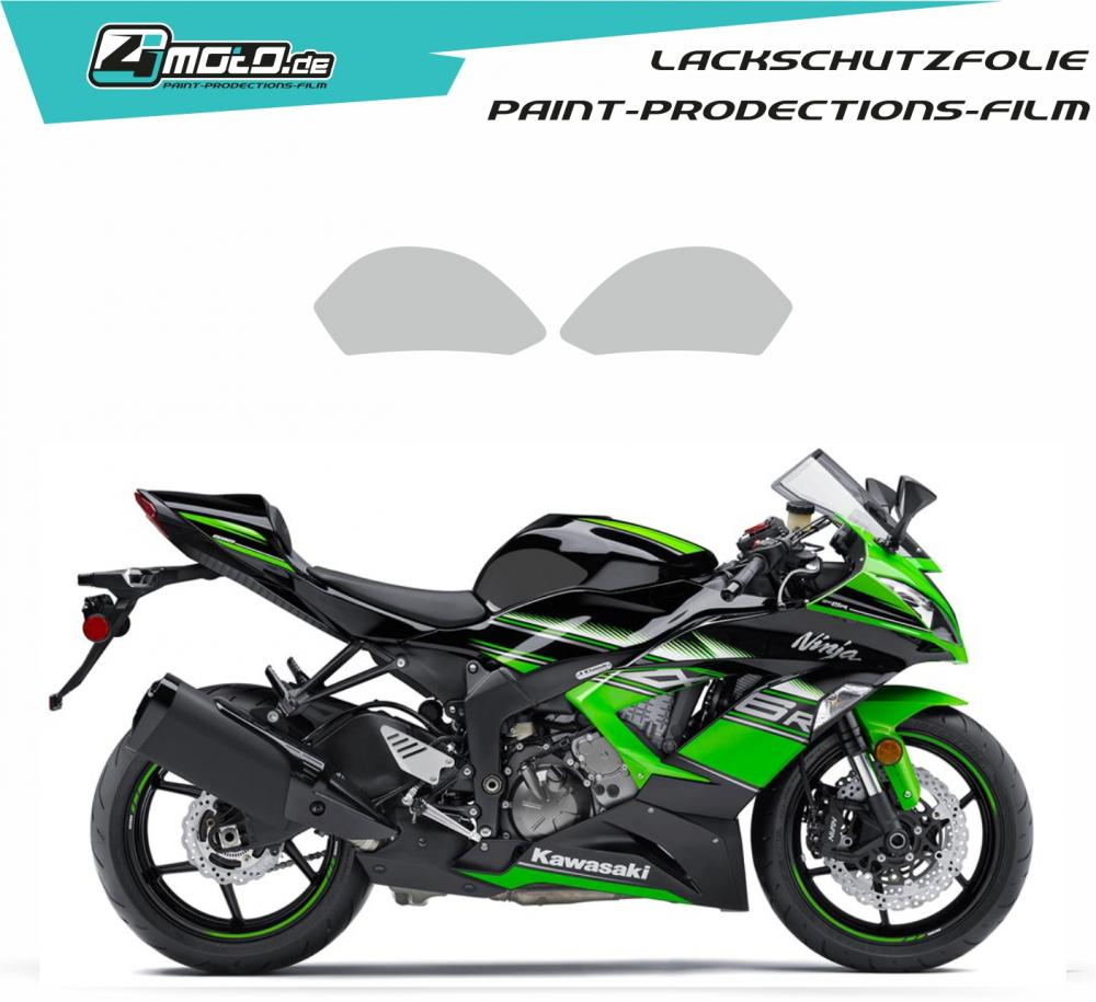 Kawasaki paint protection film ZX 6 R 2009 - 2016, ZX 636 2012 - 2019