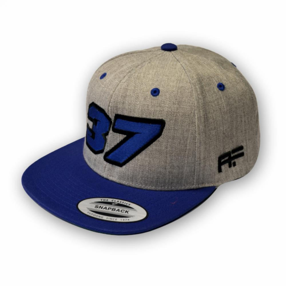 "Arnaud#37 Snapback ""RACE"" Grey/Blue"