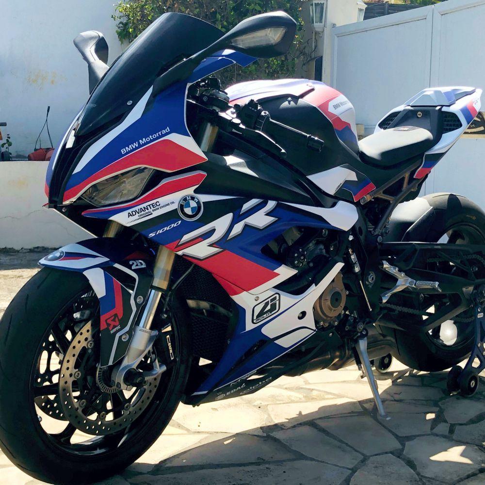 Motorradaufkleber Bikedekore Wheelskinzz Bmw S1000rr 2019 Dekor Graphics Race1