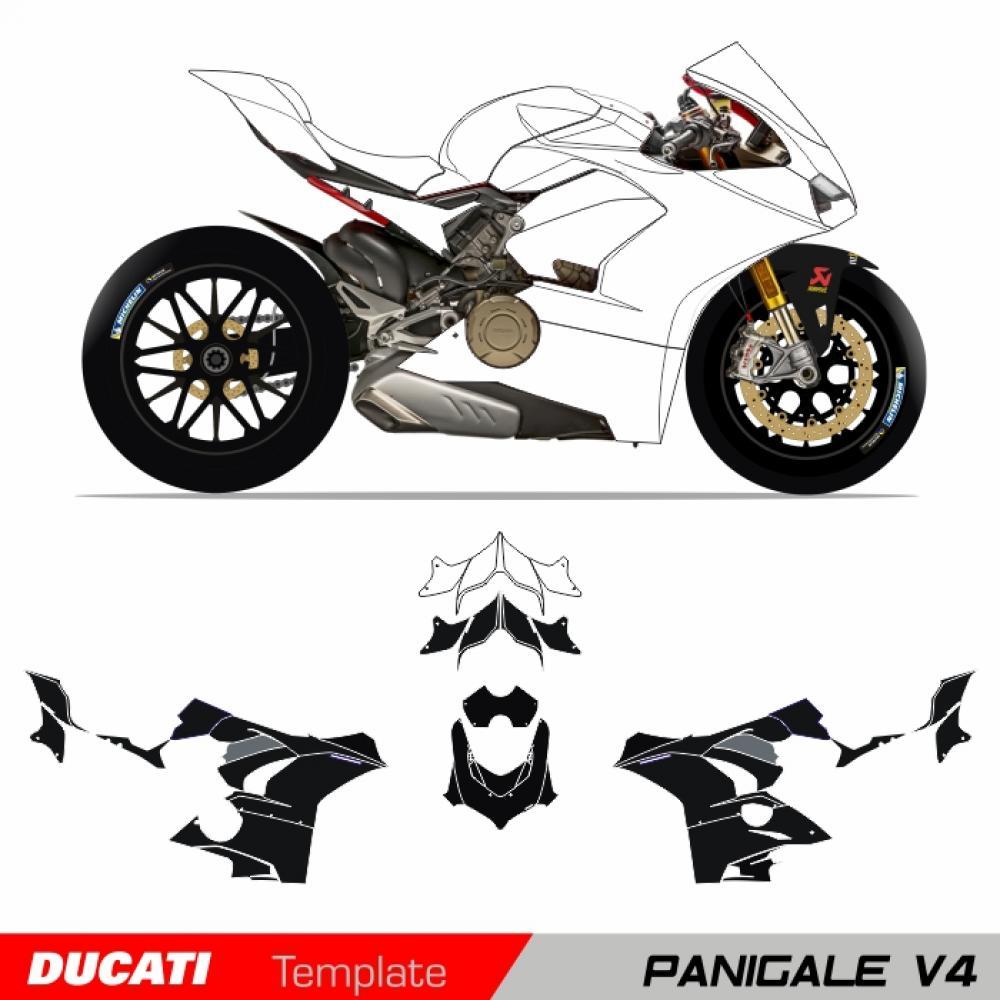 Motorradaufkleber / Bikedekore / Wheelskinzz - Ducati Panigale V4