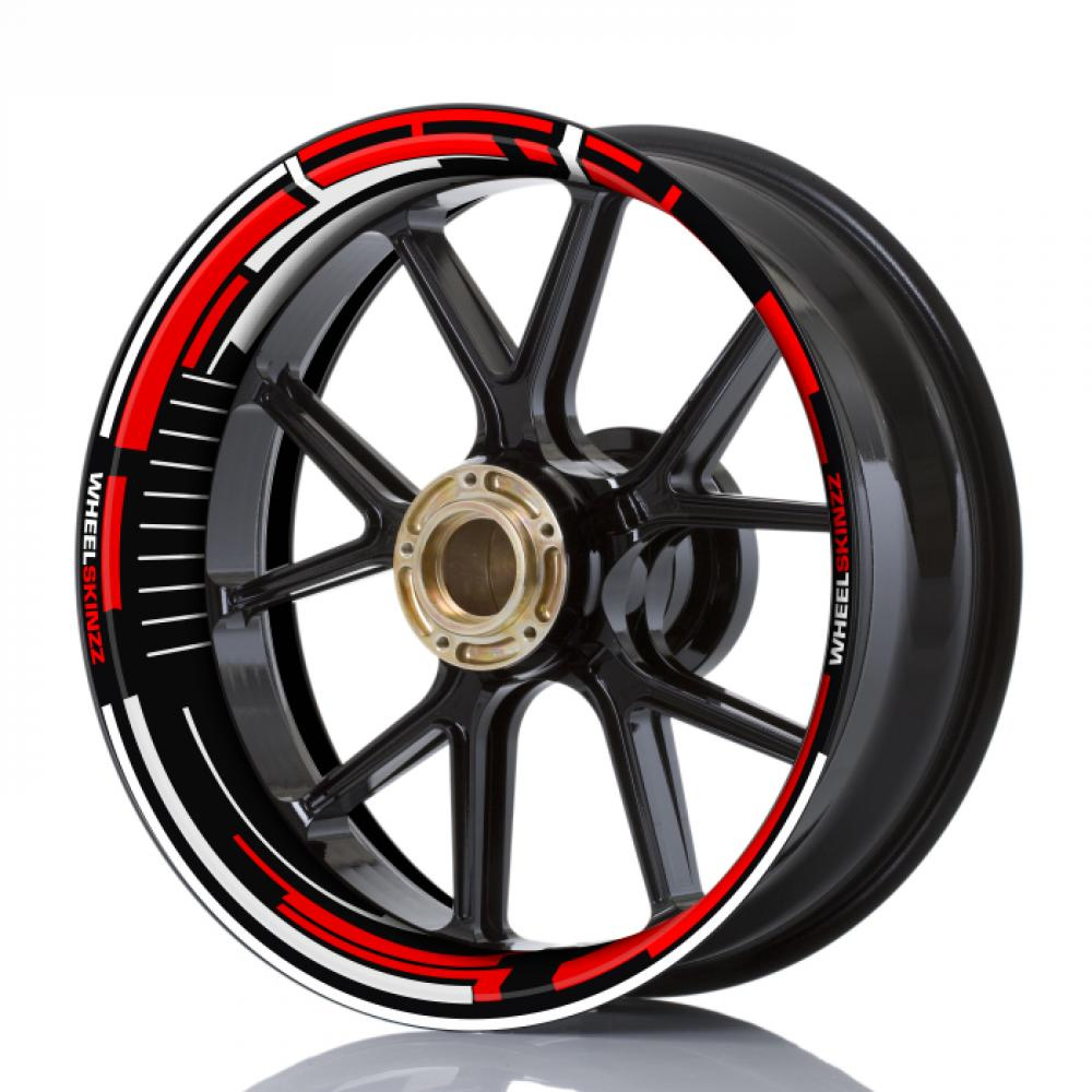 "Wheelskinzz® ""Space"" Red / White"