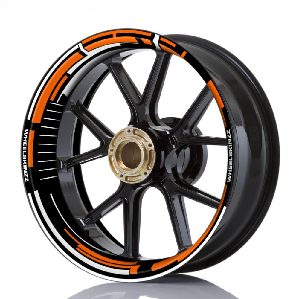 "Wheelskinzz® ""Space"" Orange / White"