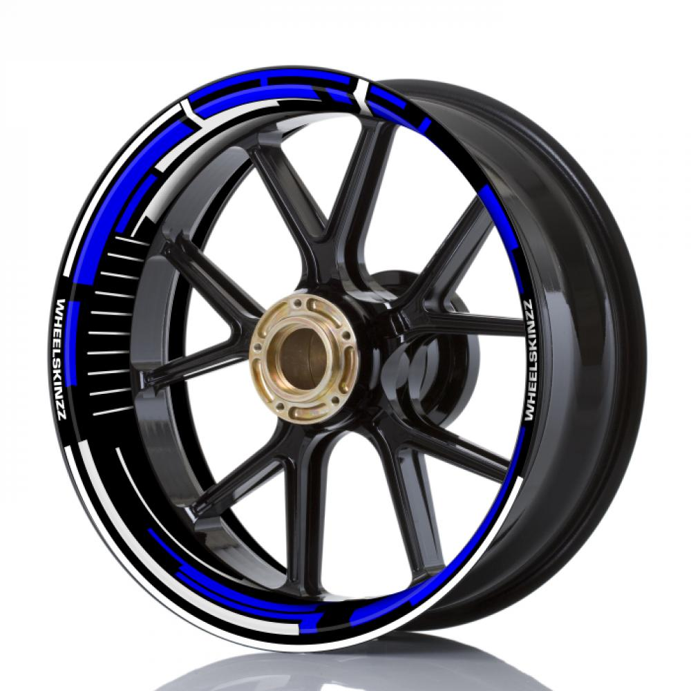 "Wheelskinzz® ""Space"" Blue / White"