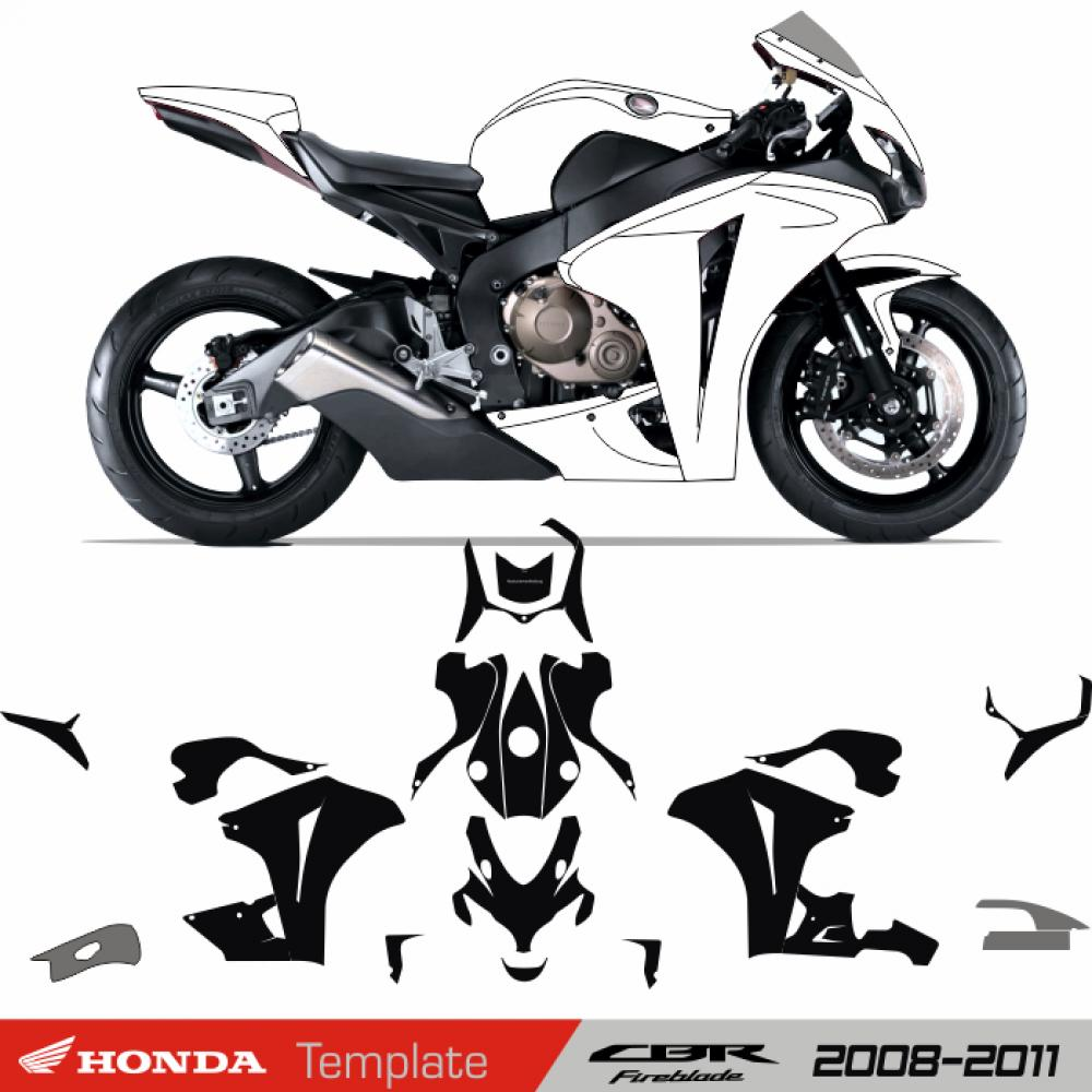 motorradaufkleber bikedekore wheelskinzz honda cbr. Black Bedroom Furniture Sets. Home Design Ideas