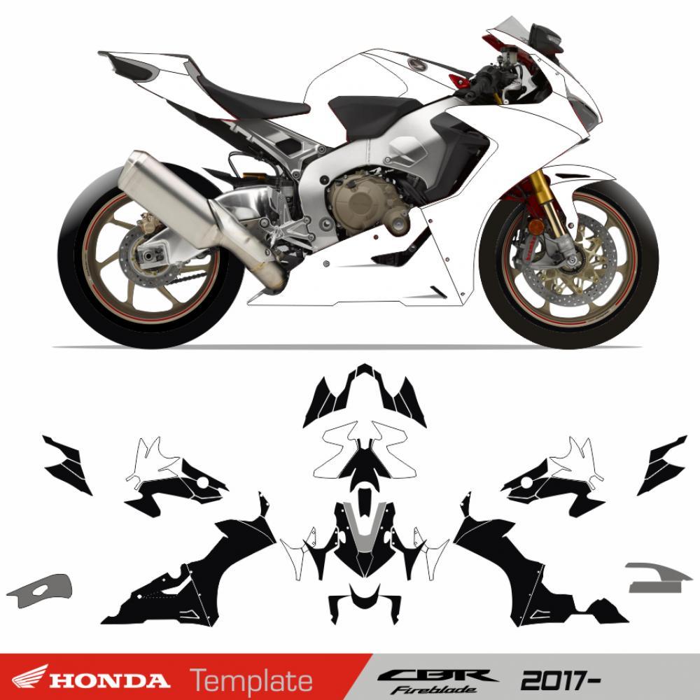 Motorradaufkleber Bikedekore Wheelskinzz Honda Cbr 1000 Rr