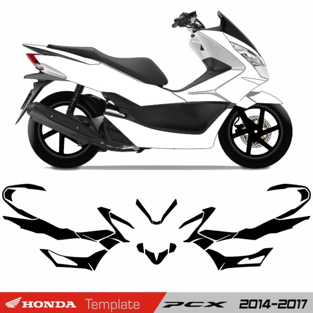 Motorradaufkleber bikedekore wheelskinzz honda pcx 2014 2017 template
