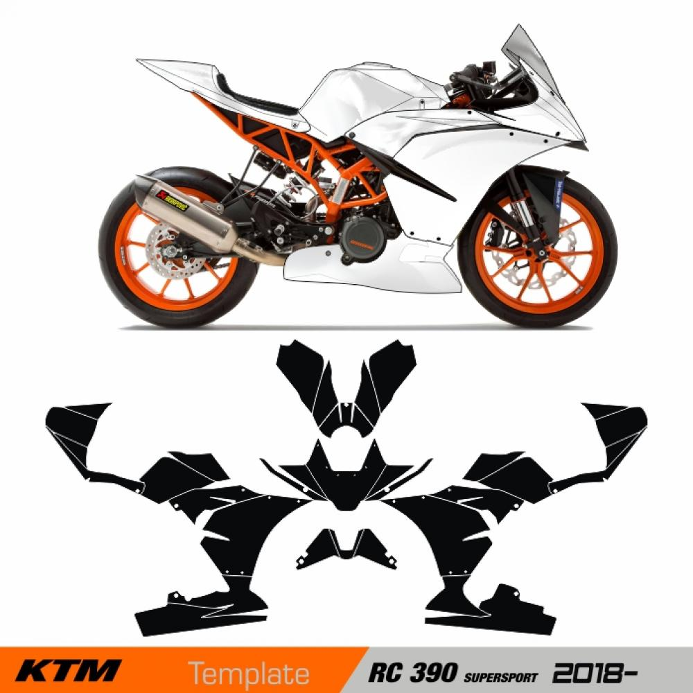 "KTM RC 390 SUPERSPORT Factory ""RACEFAIRING"" 2018- Template Cutcontour"