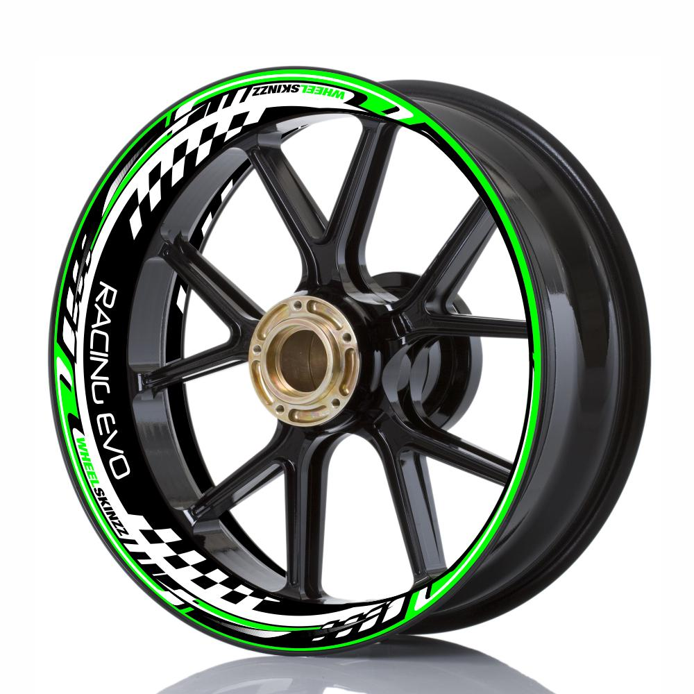"Wheelskinzz® ""Racing Evo"" Green/White/Black"