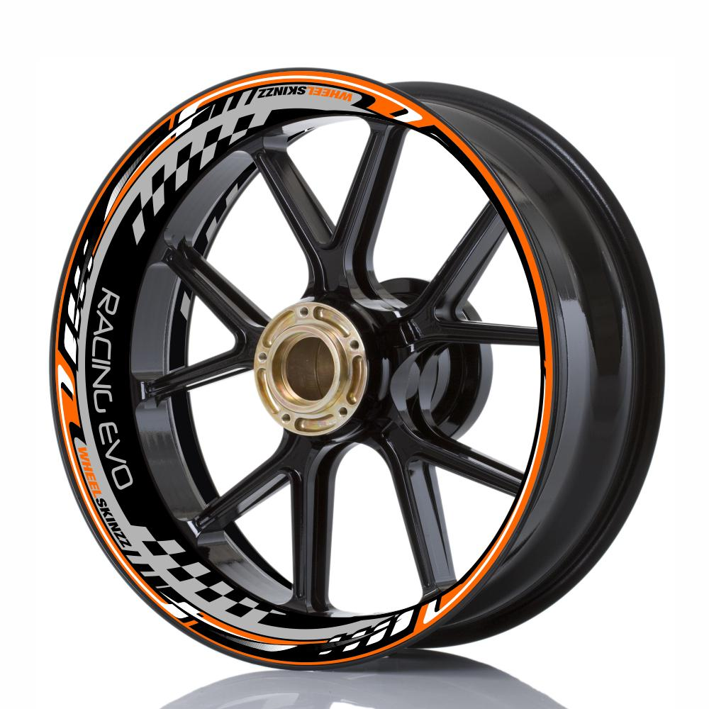 "Wheelskinzz® ""Racing EVO"" Orange/Grau/Schwarz"