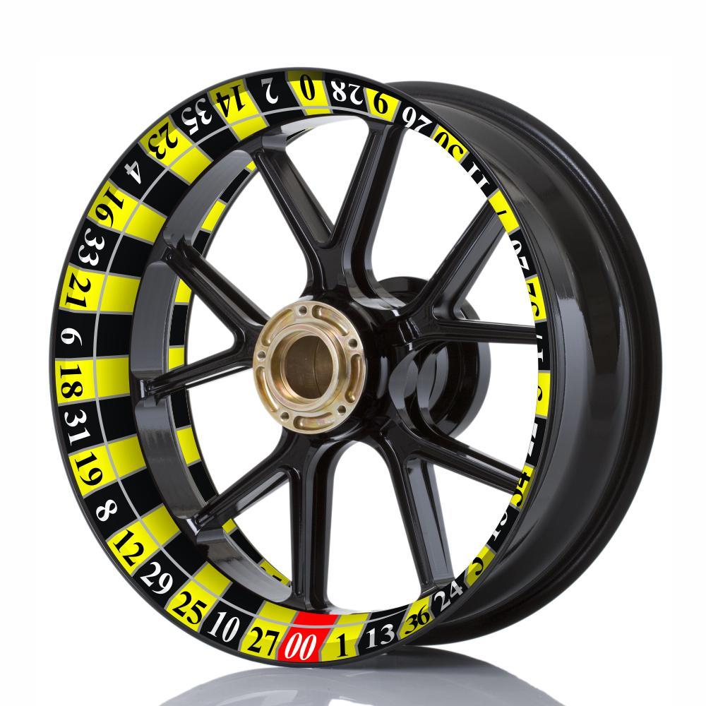 Wheelskinzz® Roulettdesign Black/Yellow