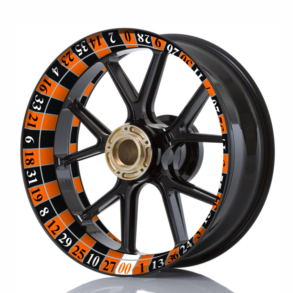 Wheelskinzz® Roulettdesign Black/Orange