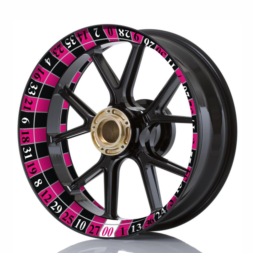 Wheelskinzz® Roulettdesign Black/Pink