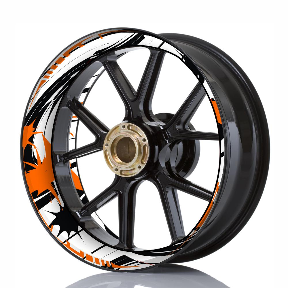 Wheelskinzz® STYLE White/Black/Orange