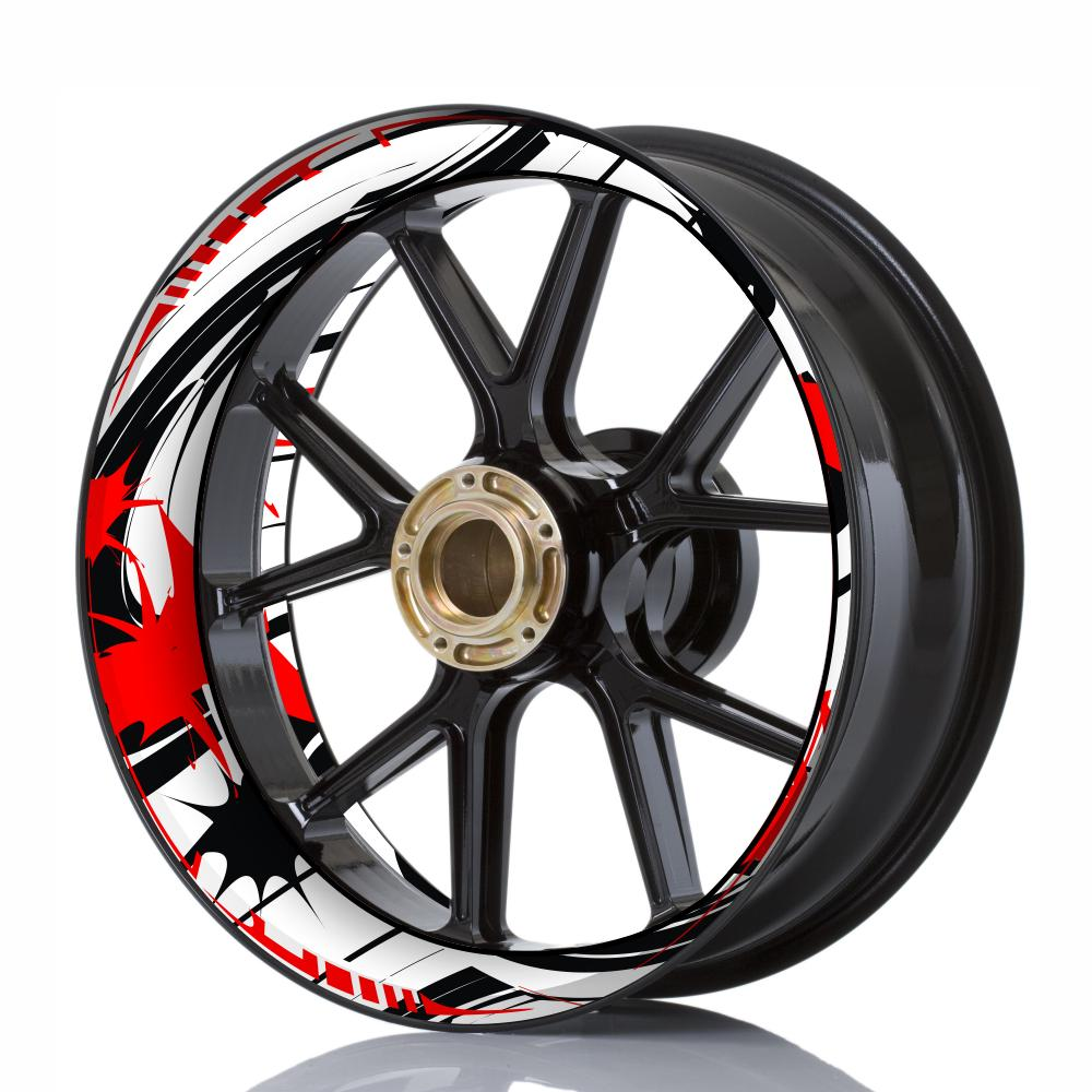 Wheelskinzz® STYLE White/Black/Red