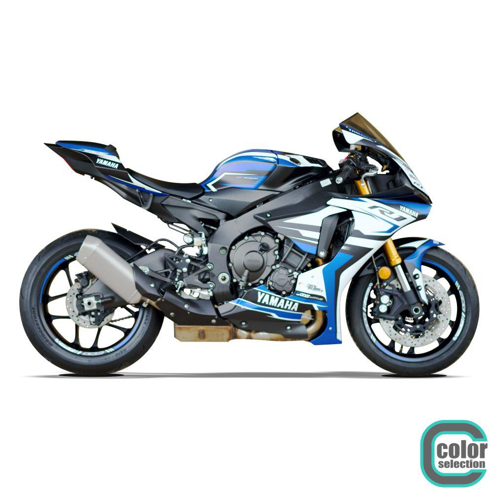 YAMAHA R1 RN32 15-19 4RACE-DSG Dekor Stickerkit Graphics