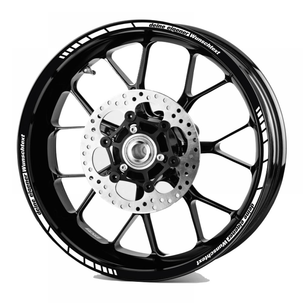 Rim Stripes GP Style with your Text