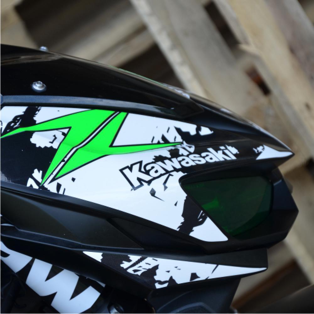 Motorradaufkleber Bikedekore Wheelskinzz Kawasaki
