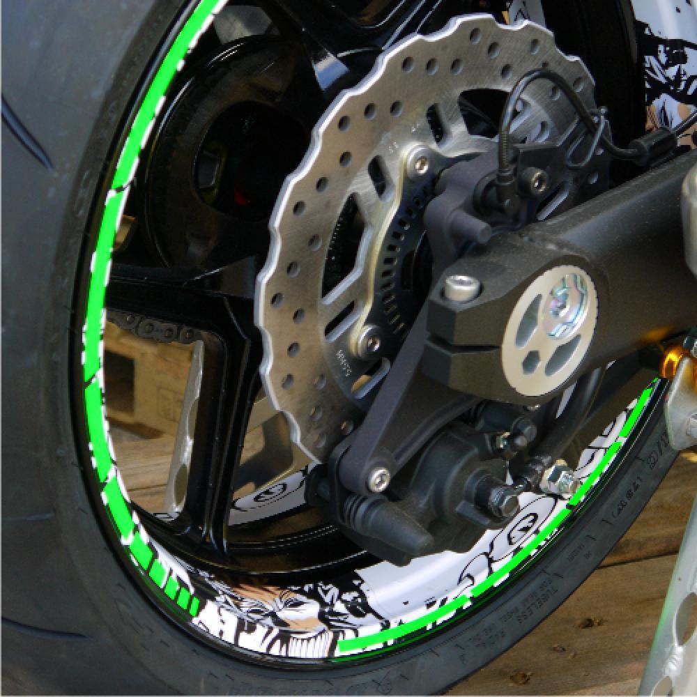 Kawasaki z1000 joker 14 17 dekor stickerkit fluogreen