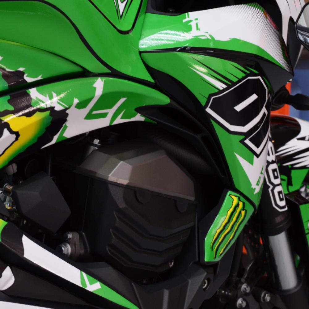 Motorradaufkleber Bikedekore Wheelskinzz Kawasaki Z800