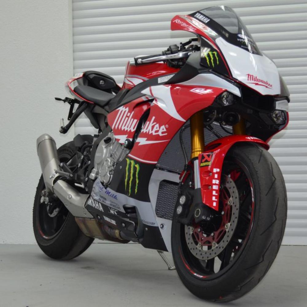 Motorradaufkleber Bikedekore Wheelskinzz Yamaha Milwaukee R1