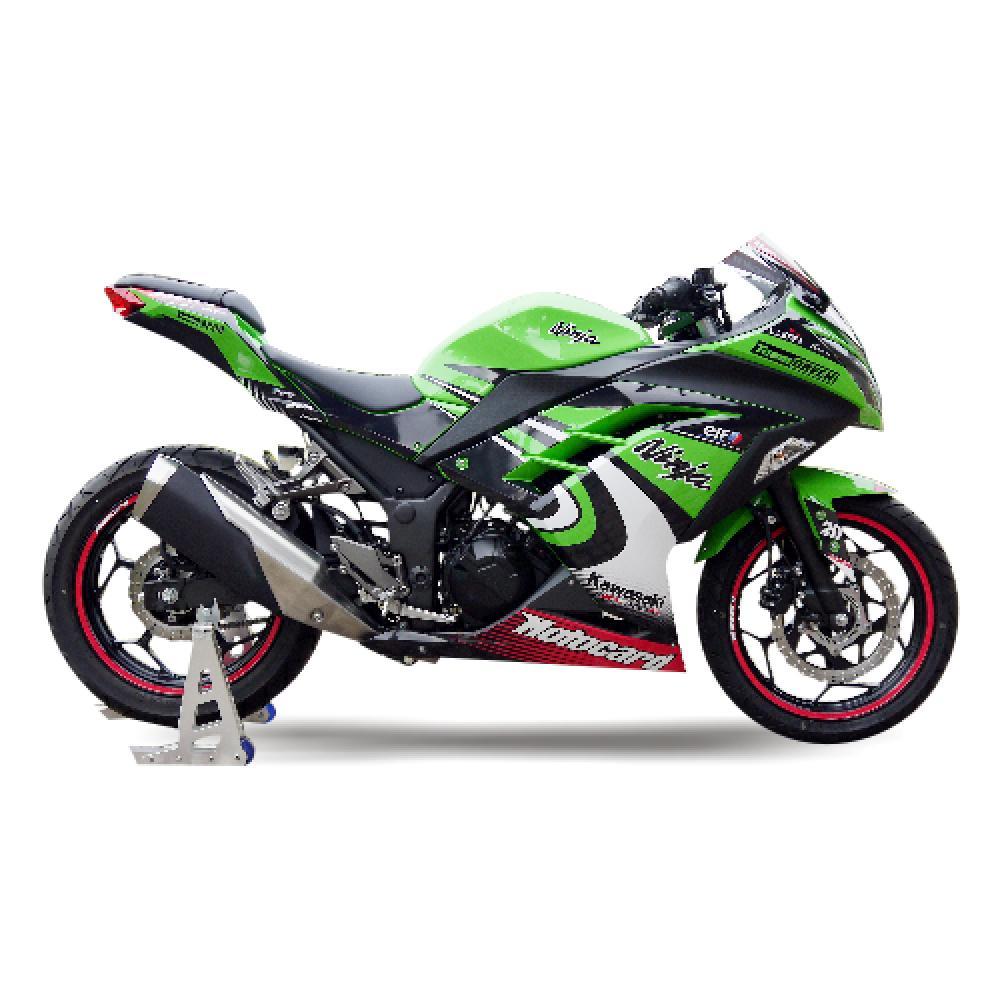 Motorradaufkleber Bikedekore Wheelskinzz Kawasaki Ninja 300 13
