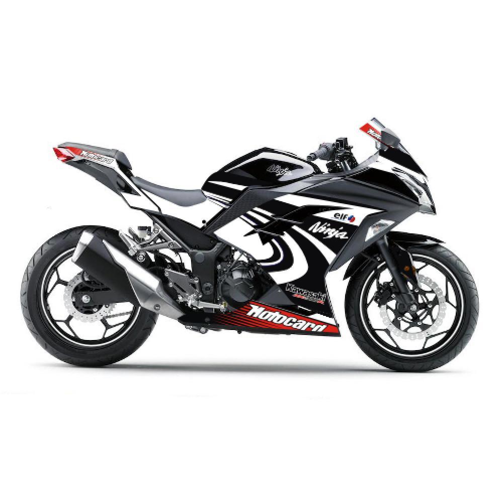 Motorradaufkleber Bikedekore Wheelskinzz Kawasaki Ninja 300