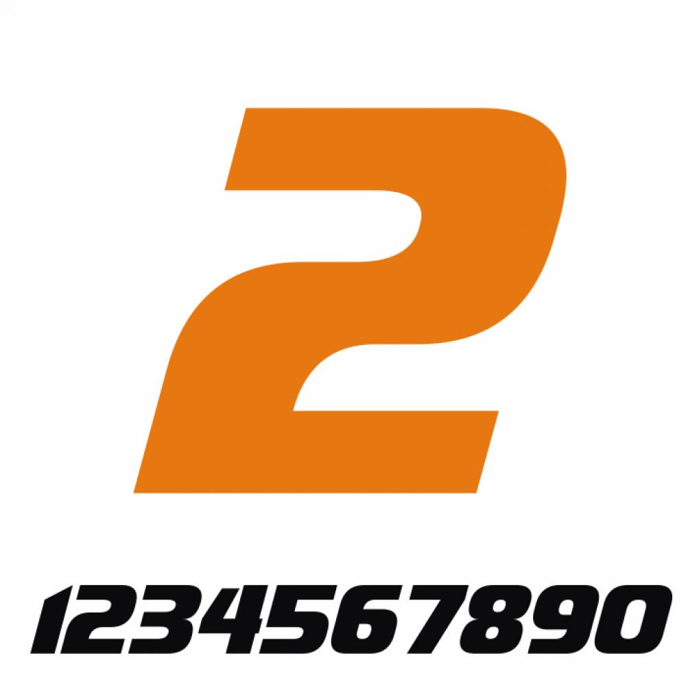Start Number - Sticker Decal One Number V3