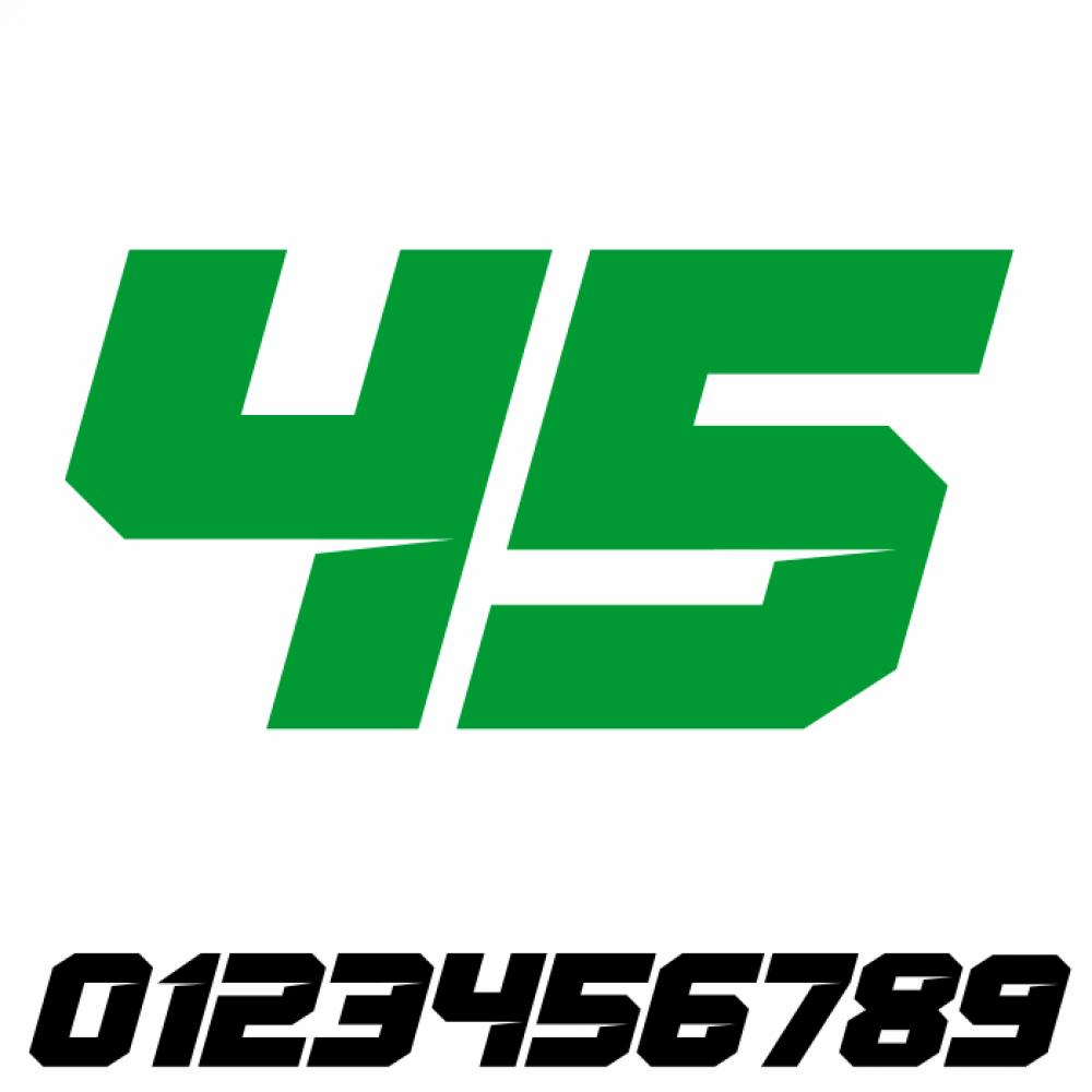 Start Number - Sticker Decal Two Number V5