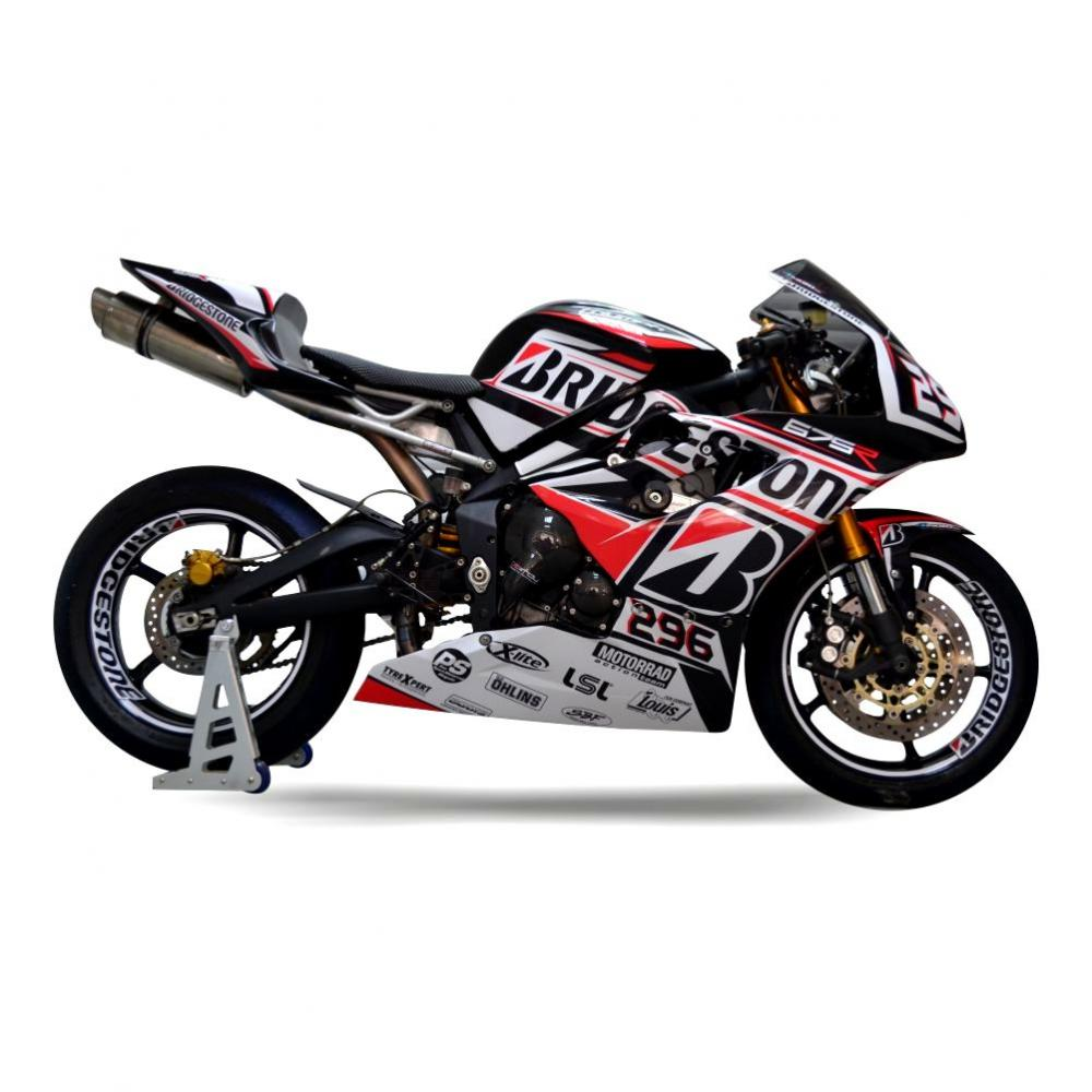 TRIUMPH Daytona 675R 11-12 Racing Dekor Stickerkit BS