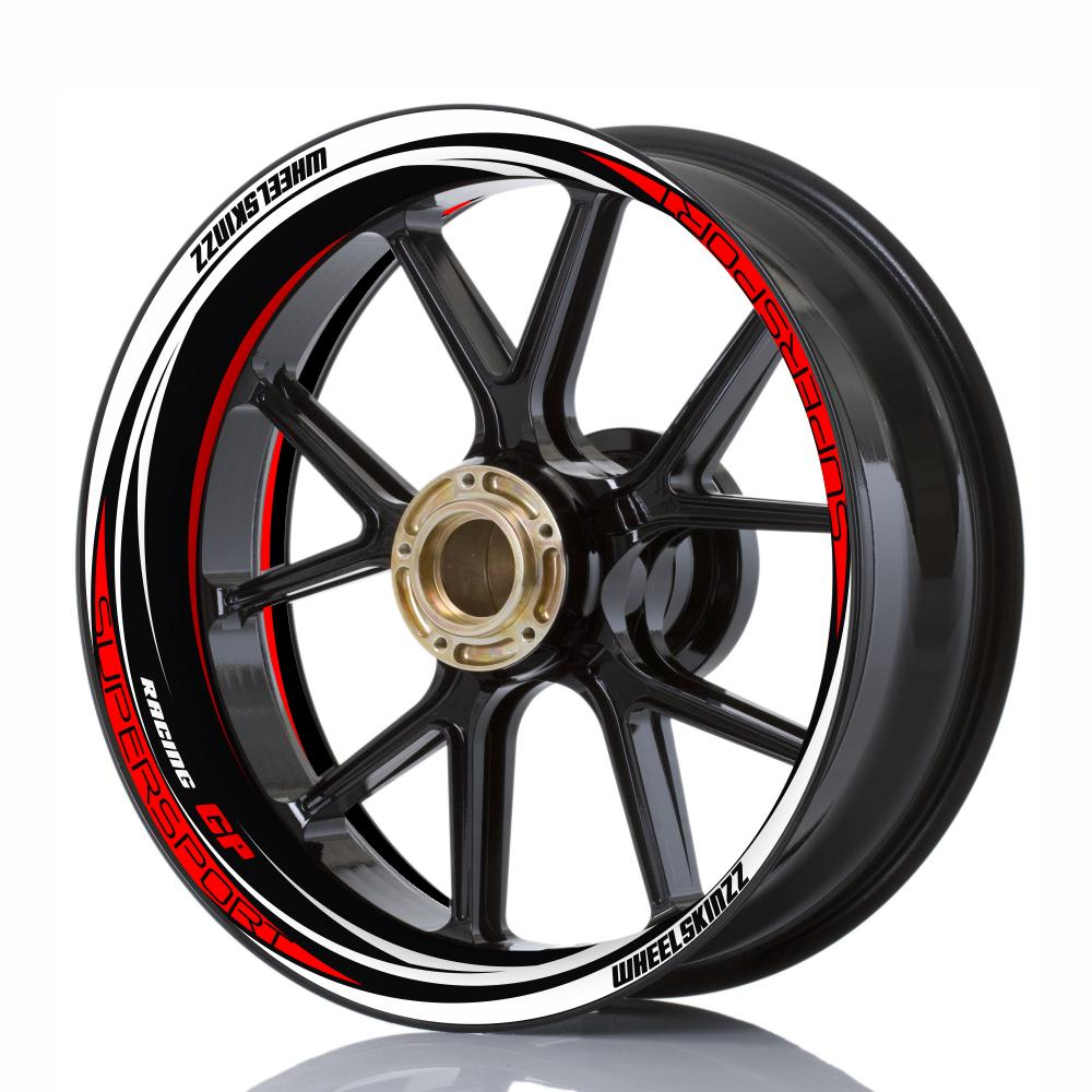 "Wheelskinzz® ""Racing GP"" Black/White/Red"
