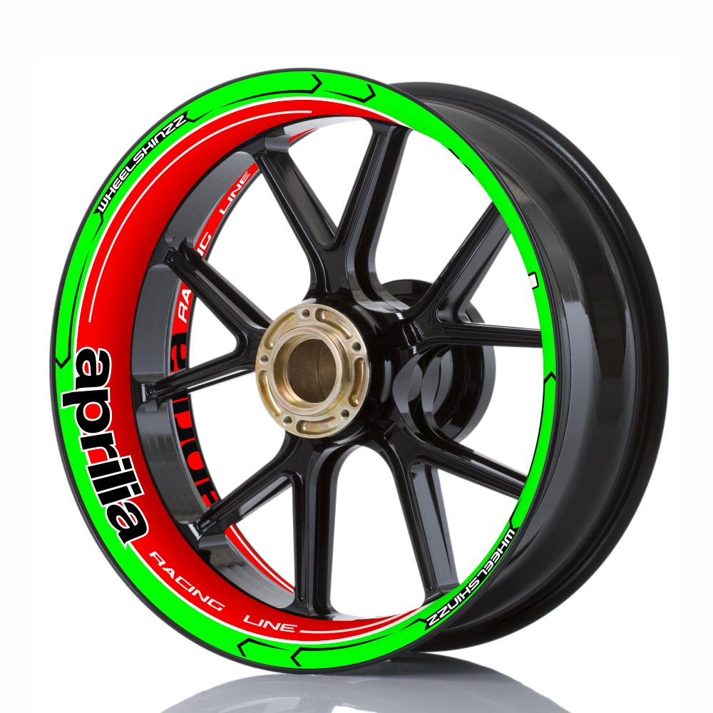"Wheelskinzz® aprilia ""Racing Line"" FULL Tricolore"