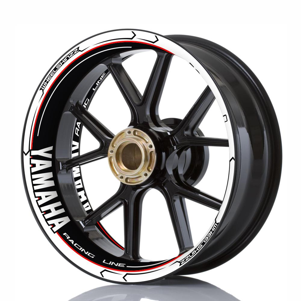 "Wheelskinzz® YAMAHA ""Racing Line"" White/Black/Red"