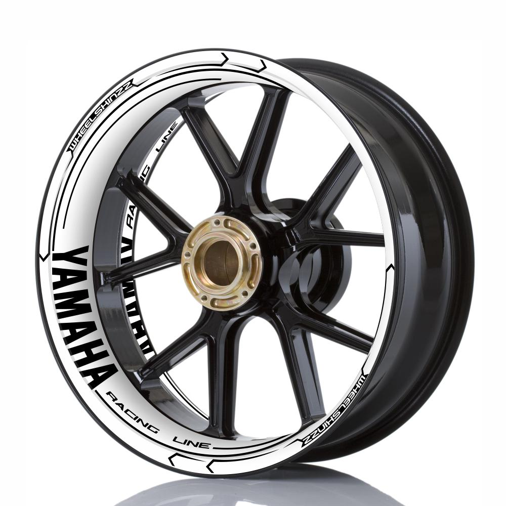 "Wheelskinzz® YAMAHA ""Racing Line"" White/Black"