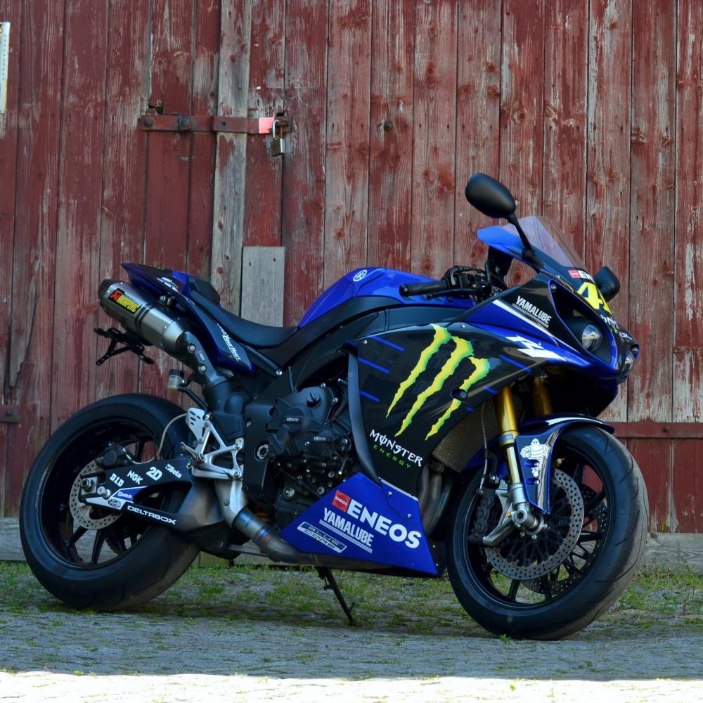 Motorradaufkleber Bikedekore Wheelskinzz Yamaha R1 Rn22 09 14
