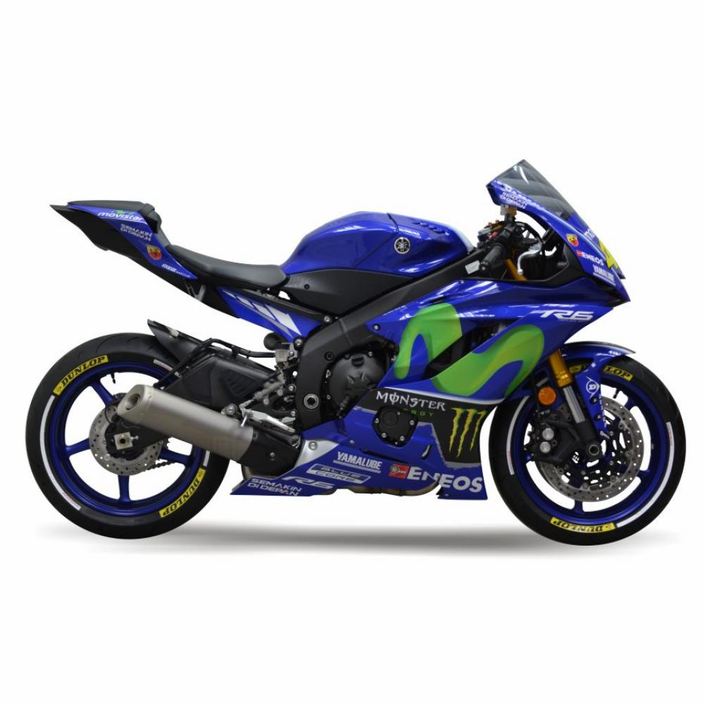 "YAMAHA R6 RJ17 17- ""Rossi Replica"" Dekor Stickerkit Graphics"