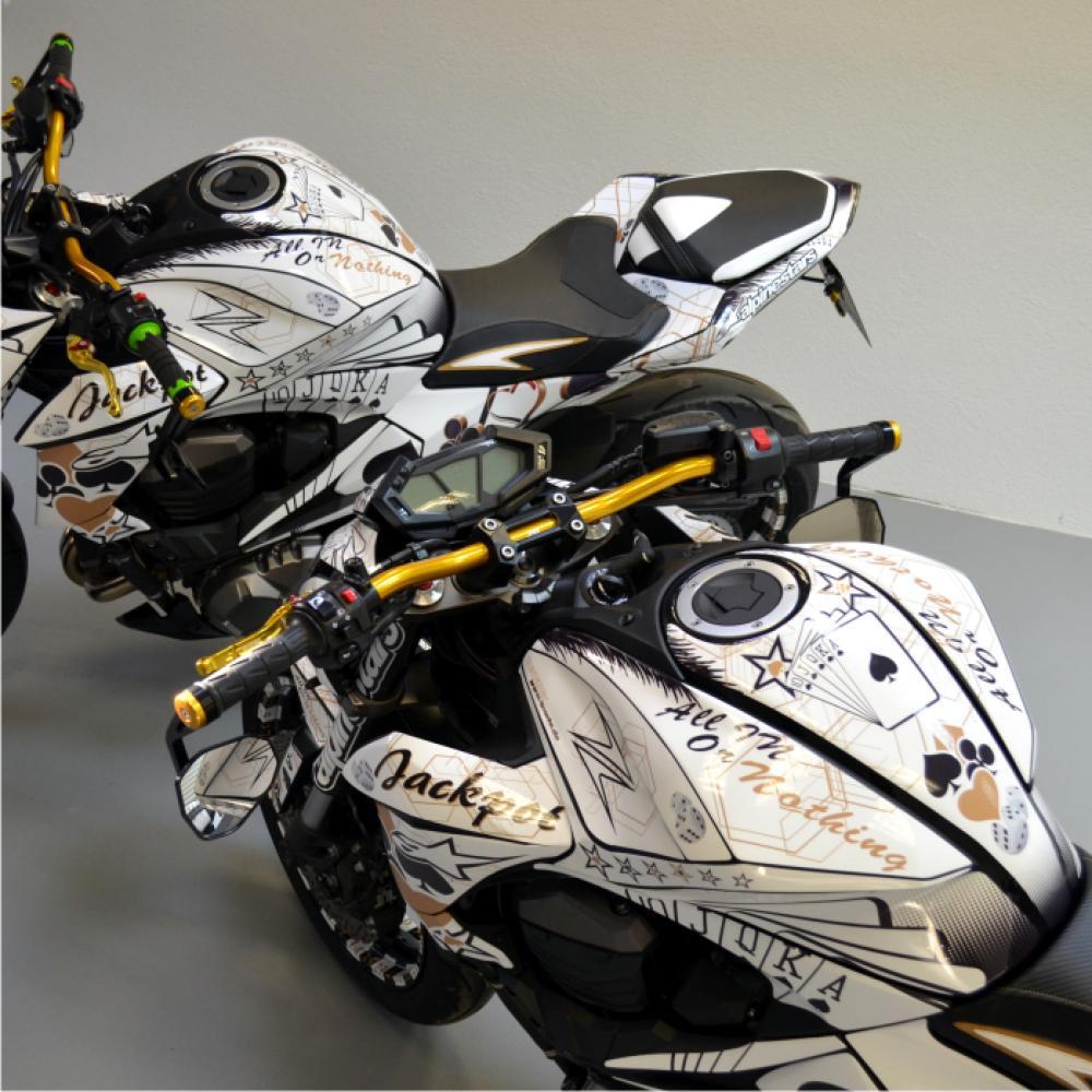 Kawasaki Z800 Gambling 13 16 Motorrad Dekor Stickerkit