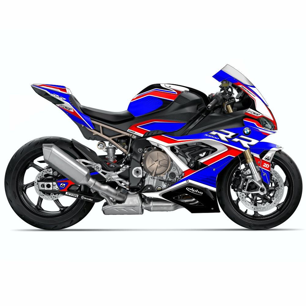 Motorradaufkleber Bikedekore Wheelskinzz Bmw S1000rr