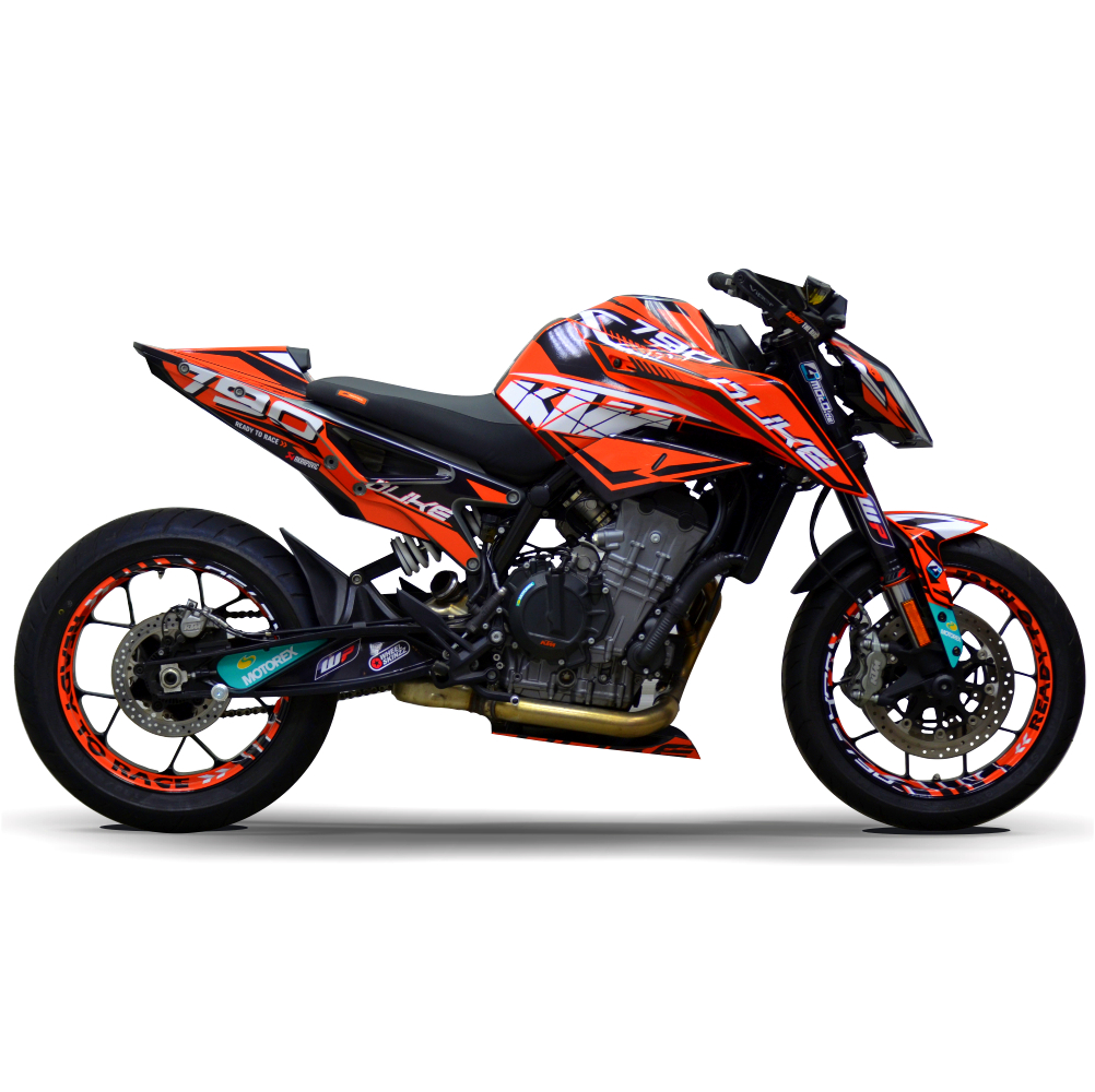 Motorradaufkleber Bikedekore Wheelskinzz Ktm Duke 790