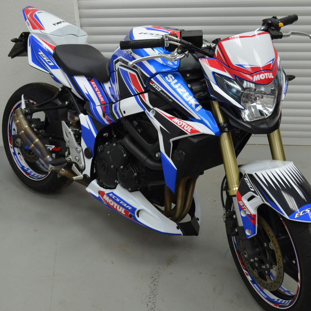 Motorradaufkleber Bikedekore Wheelskinzz Suzukigsr