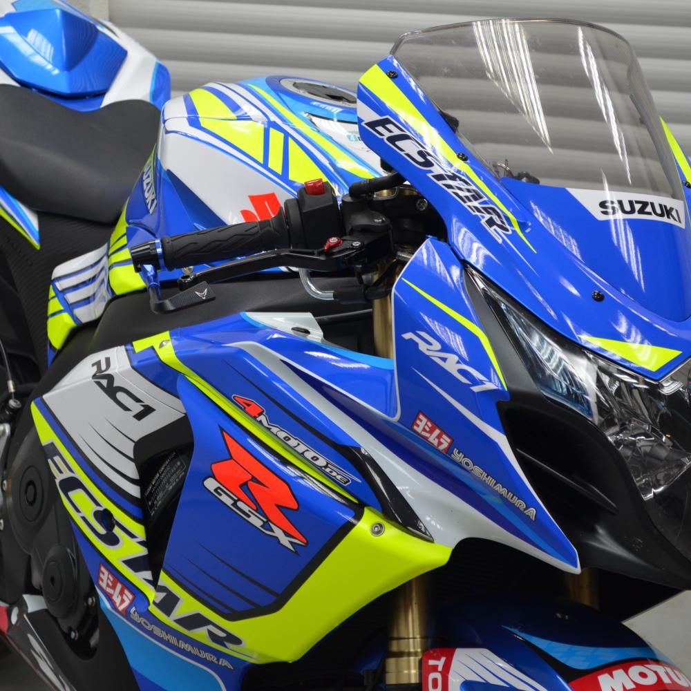 Motorradaufkleber Bikedekore Wheelskinzz Suzukigsxr