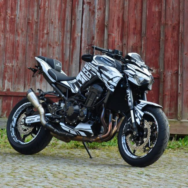 "Kawasaki Z900 ""ZTYLE - Black/White"" Bj 2020-  Motorcycle Dekor Graphics"