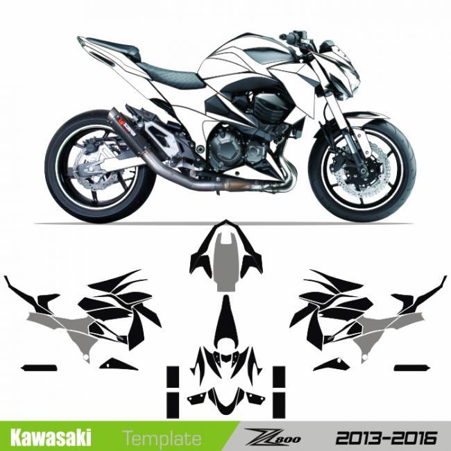 Kawasaki z800 2013 2016 template