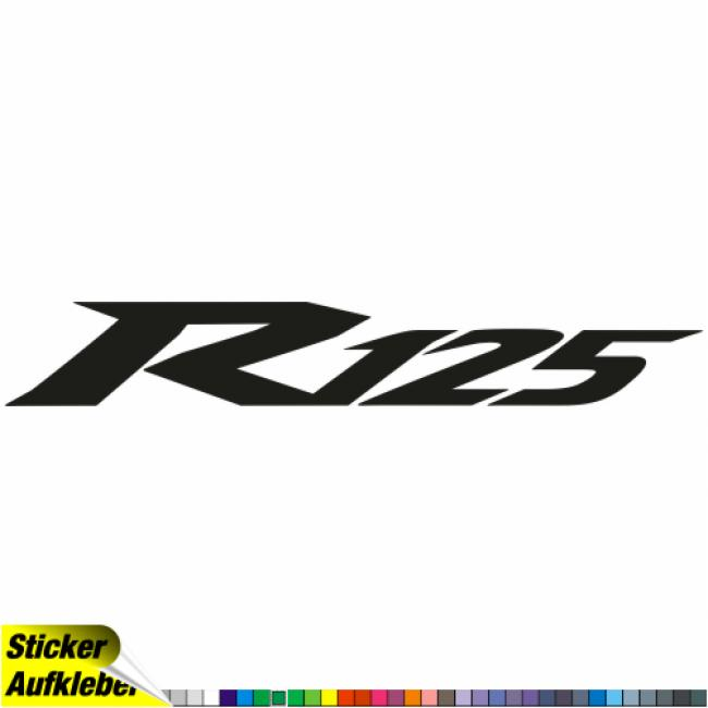YAMAHA - R125 -  Logo Sticker Decal