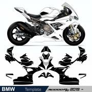 BMW S 1000 RR 2019 - RACING Template Cutcontour