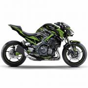 "Kawasaki Z900 ""ZTYLE - Metalic-Green"" 17- 19 Motorcycle Dekor Graphics"