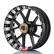 Wheelskinzz® Roulettdesign Black/White
