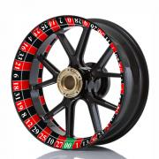 Wheelskinzz® Roulettdesign Black/Red