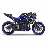 "YAMAHA MT03 16 - ""SPLT-Blue"" Dekor Stickerkit"