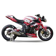 "TRIUMPH Streettriple 13-17 Dekor Stickerkit ""BULLS - Red"""