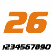 Start Number - Sticker Decal Two Number V2